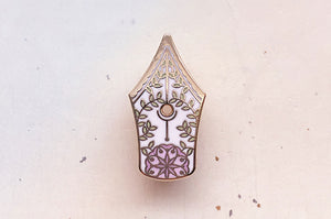 Star Fall Pin – Alum and Ink