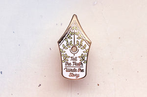 Write the Story Fountain Pen Enamel Pin