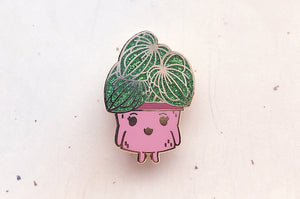 Watermelon Peperomia Planter Enamel Pin