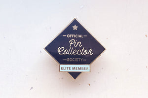 Pin Collector Society (Black Variant) Enamel Pin