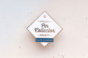 Pin Collector Society (White Variant) Enamel Pin