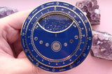 Planisphere Star Chart (Blue and Gold) Enamel Pin (Seconds)