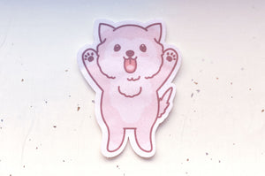 Licky Puppy Microfiber Sticker