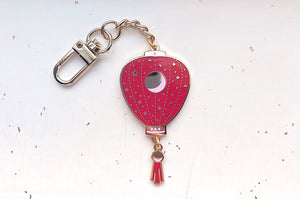 Red Stars and Moon Lantern Keychain Charm