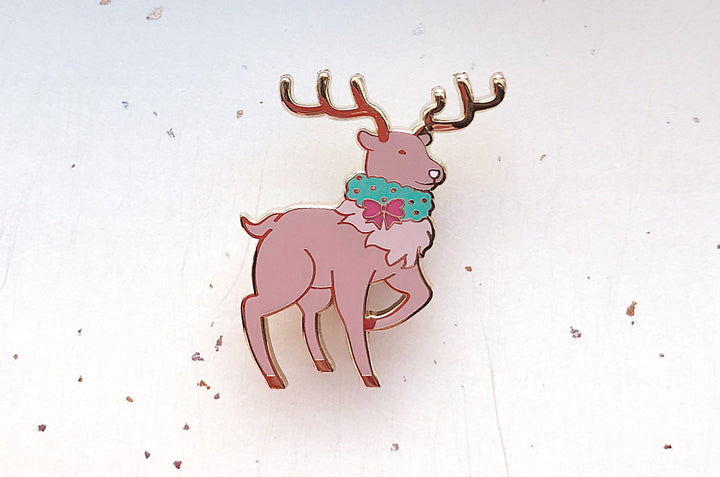 Holiday Reindeer Pin
