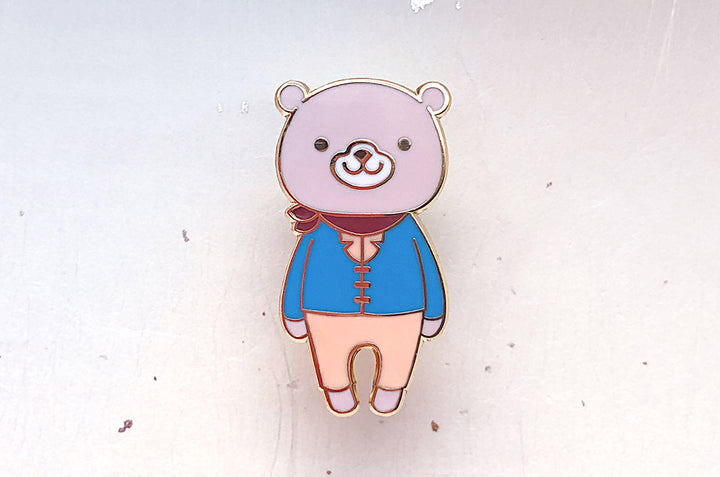 Rufus the Grizzly Bear Enamel Pin