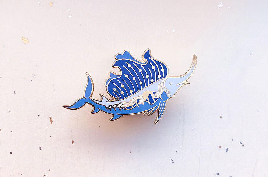 Sunset Sailfish Pin