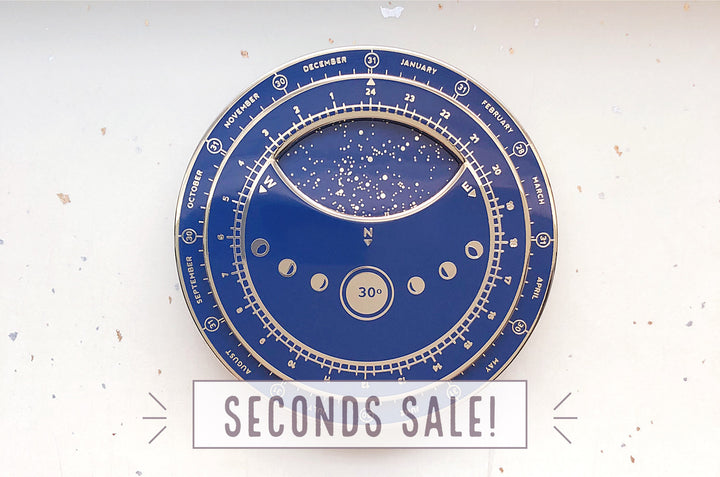 Planisphere Star Chart Enamel Pin (Seconds)