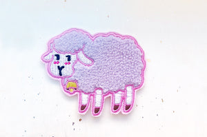 Fluffy Sheep Embroidered Patch
