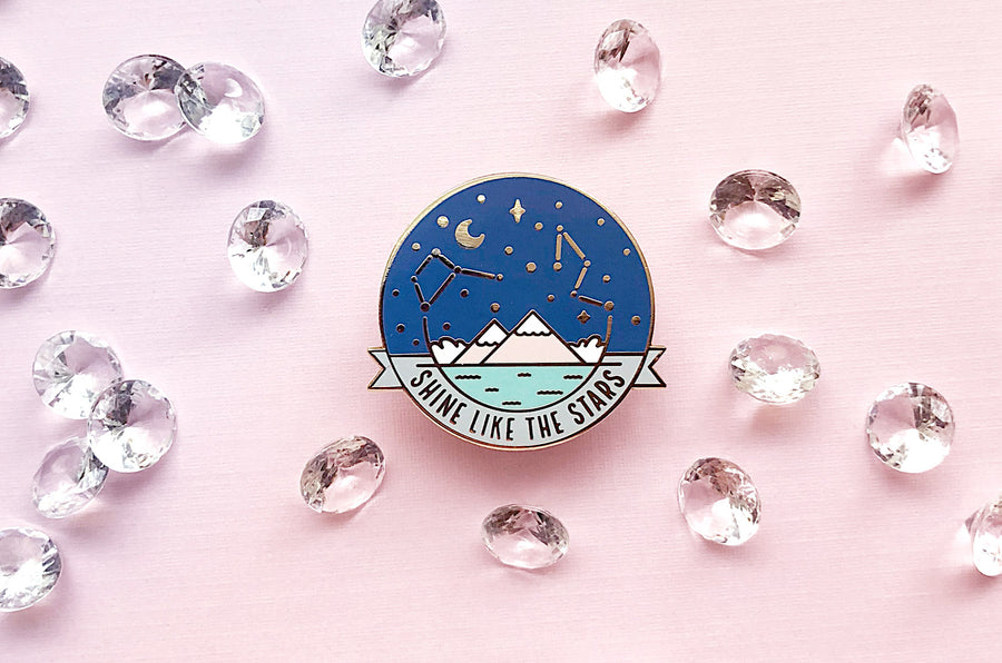 Starry Night Sky Pin