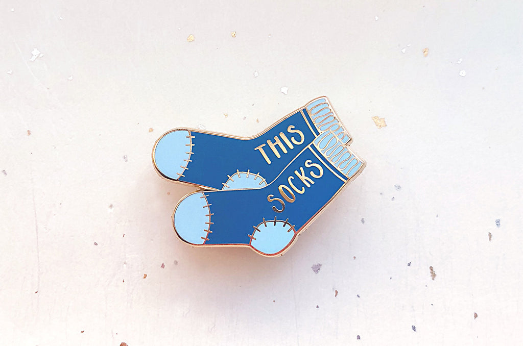 Blue This Socks Pin