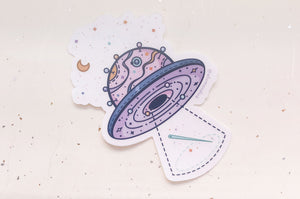 Space Crafter Clear Vinyl Sticker