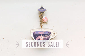 Space Tea Enamel Pin (Seconds)