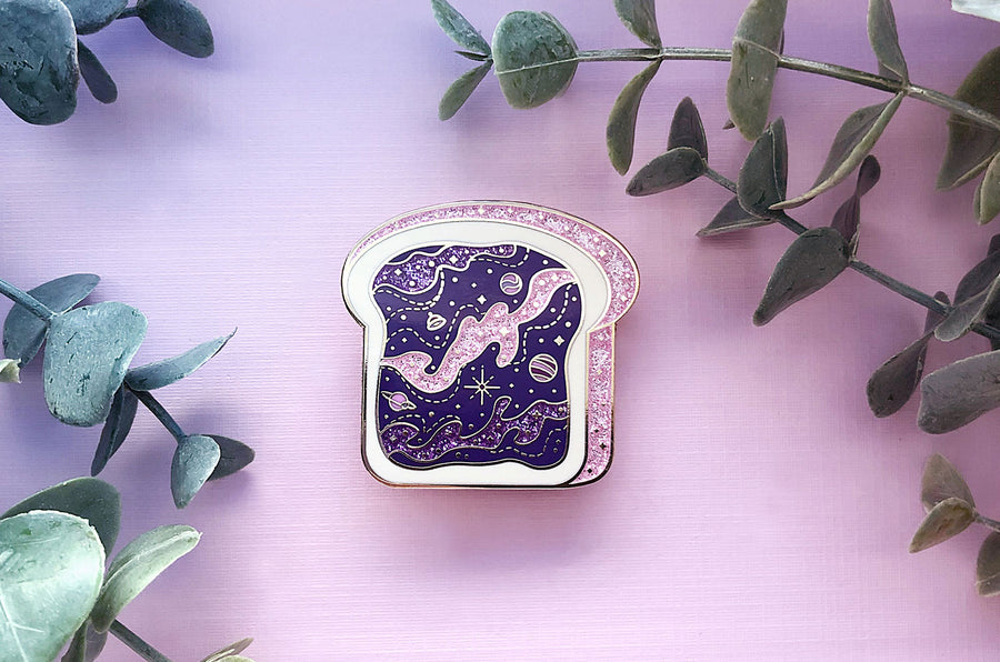 Space Toast Galaxy Enamel Pin