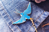 Stellar Barn Swallows Collar Pins Set