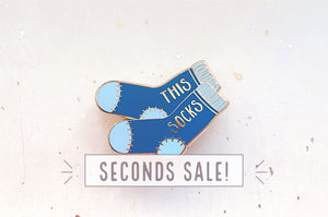 Blue This Socks Pin (Seconds)