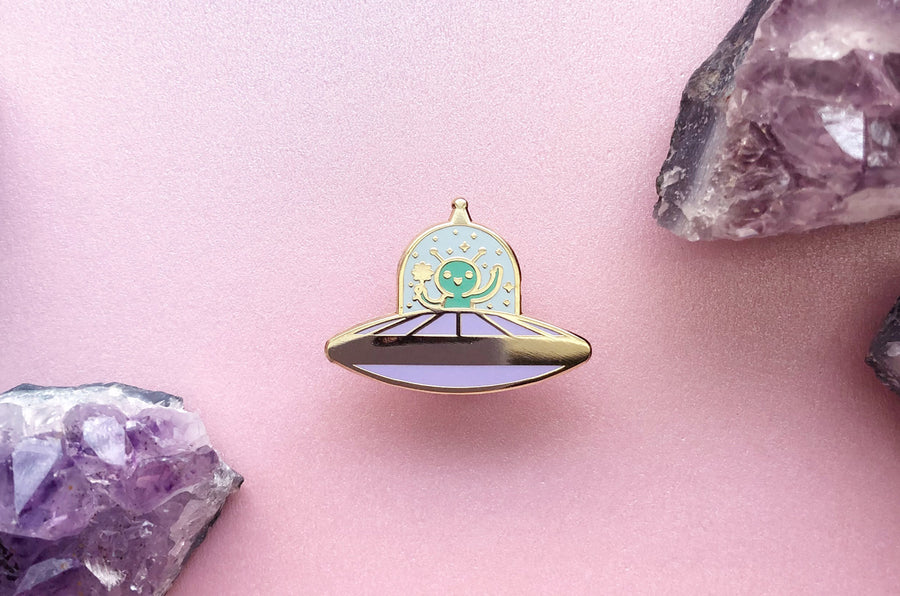 Tiny Alien Enamel Pin