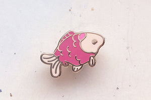 Tiny Goldfish Enamel Pin
