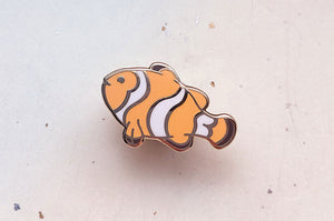 Tiny Clownfish Enamel Pin