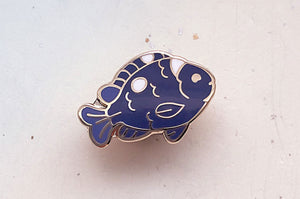 Tiny Domino Damsel Fish Enamel Pin