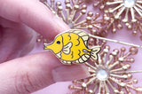 Tiny Yellow Tang Enamel Pin