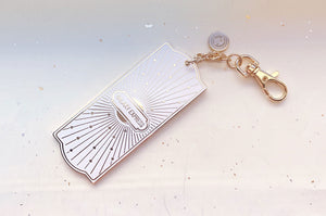 White and Gold Galaxy Express Train Ticket Charm