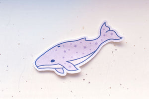Starry Whale Microfiber Sticker