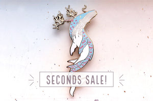 Whale King Enamel Pin (Seconds)