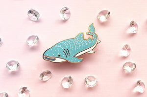 Happy Whale Shark Pin