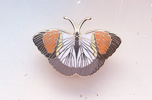 Yellow Orange Tip Butterfly (Ixias pyrene) Enamel Pin