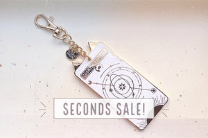 Zoomies Express Ticket Keychain Charm (Seconds)