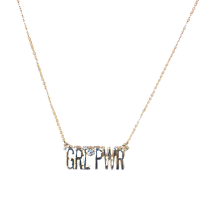 Girl Power Necklace - filthy-rich-vision