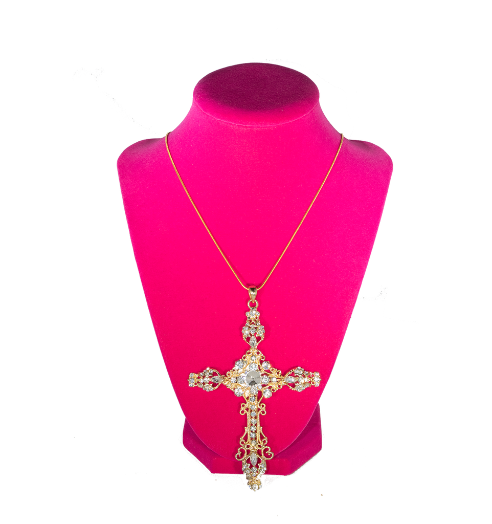 Oversized Cross Necklace - filthy-rich-vision
