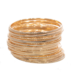 Supernova Gold Bangle Set - filthy-rich-vision