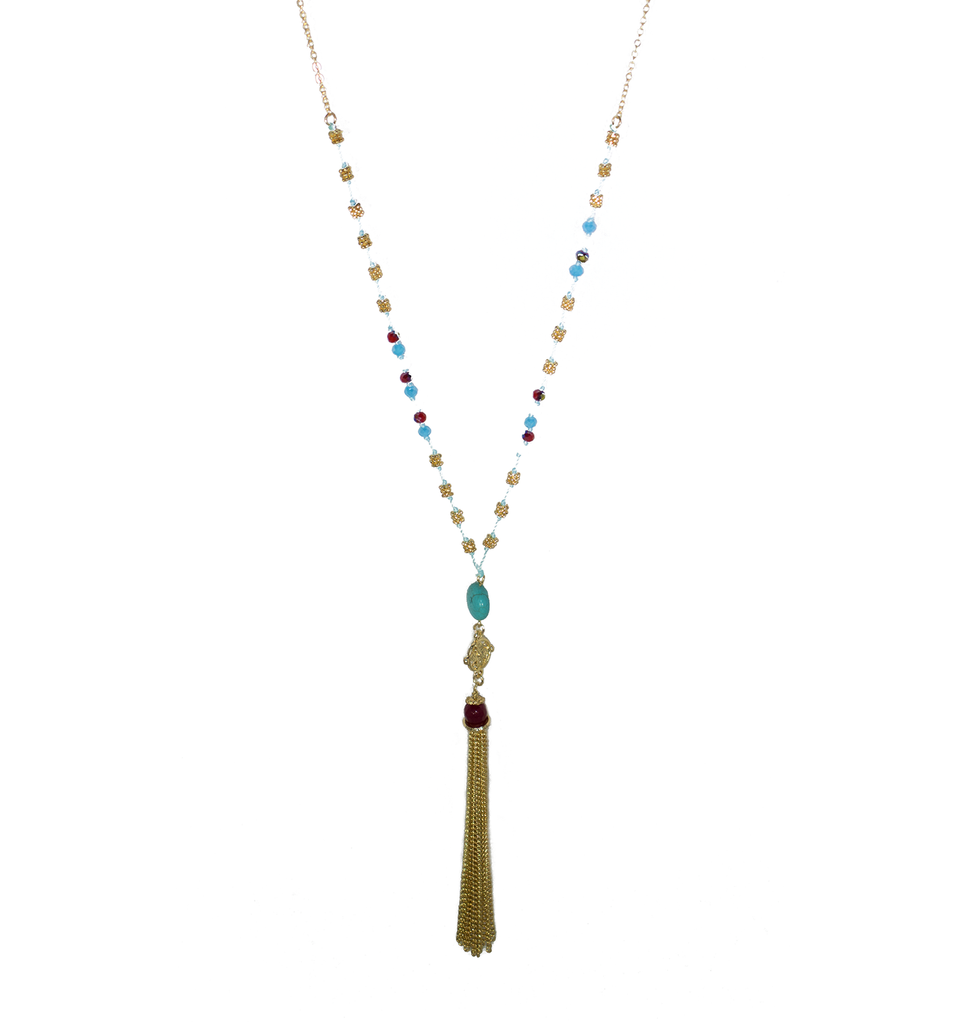 Blue Stone Necklace - filthy-rich-vision