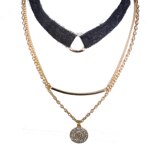 Denim Days Necklace Set - filthy-rich-vision