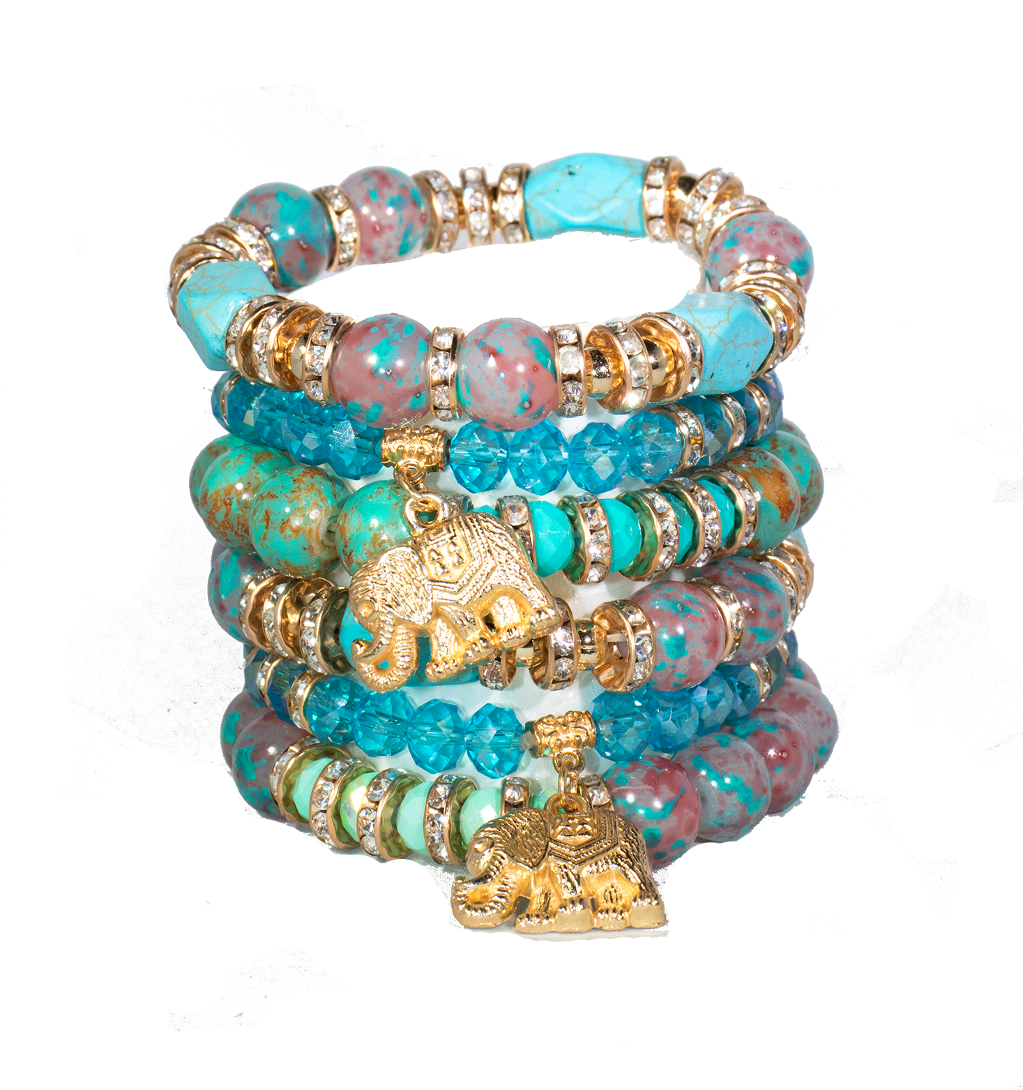 Golden Elephant Bracelet Set - filthy-rich-vision