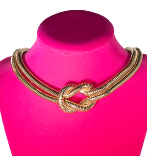 Knot Gold Choker - filthy-rich-vision