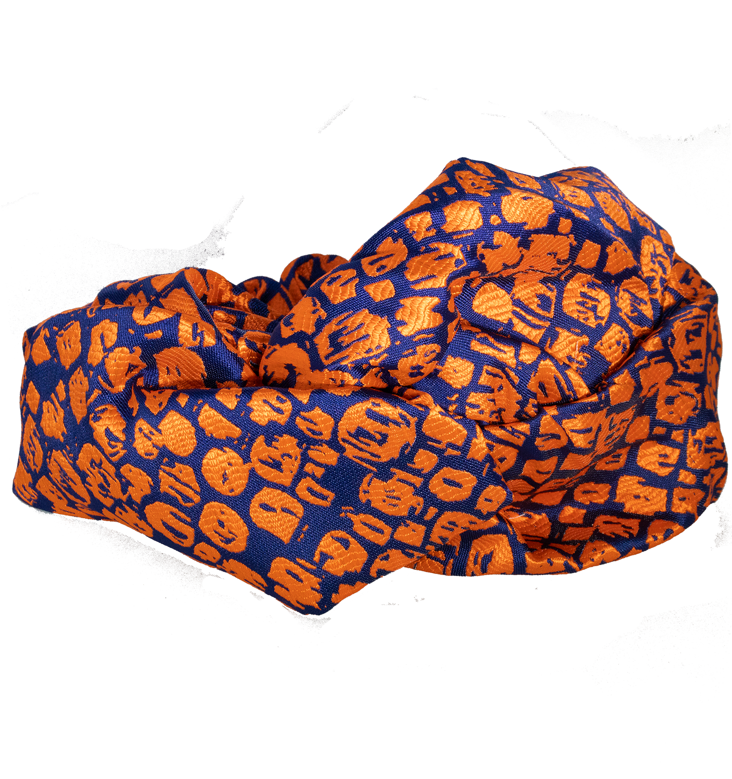Orange Mosaic Turban - filthy-rich-vision