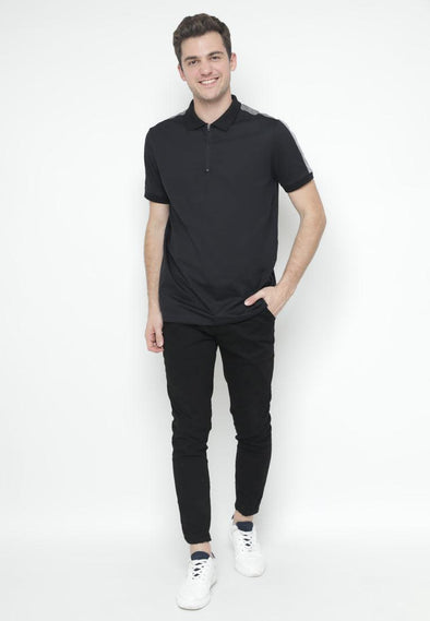 Kaos Polo Ryusei Polo Men Mikio Black