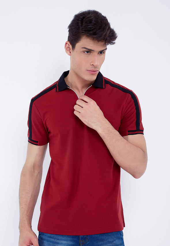 Polo Men Toshiro Maroon