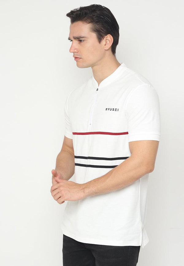 Polo Men HIrasaki List RB White