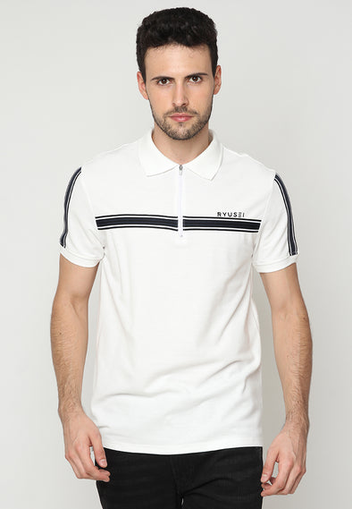 Polo Men Hitoshi List Black White