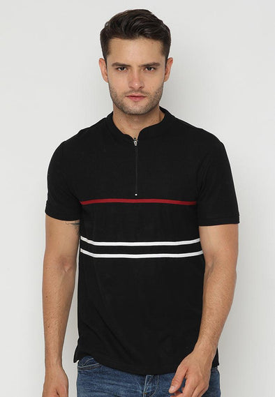 Polo Men Hirasaki List RW Black