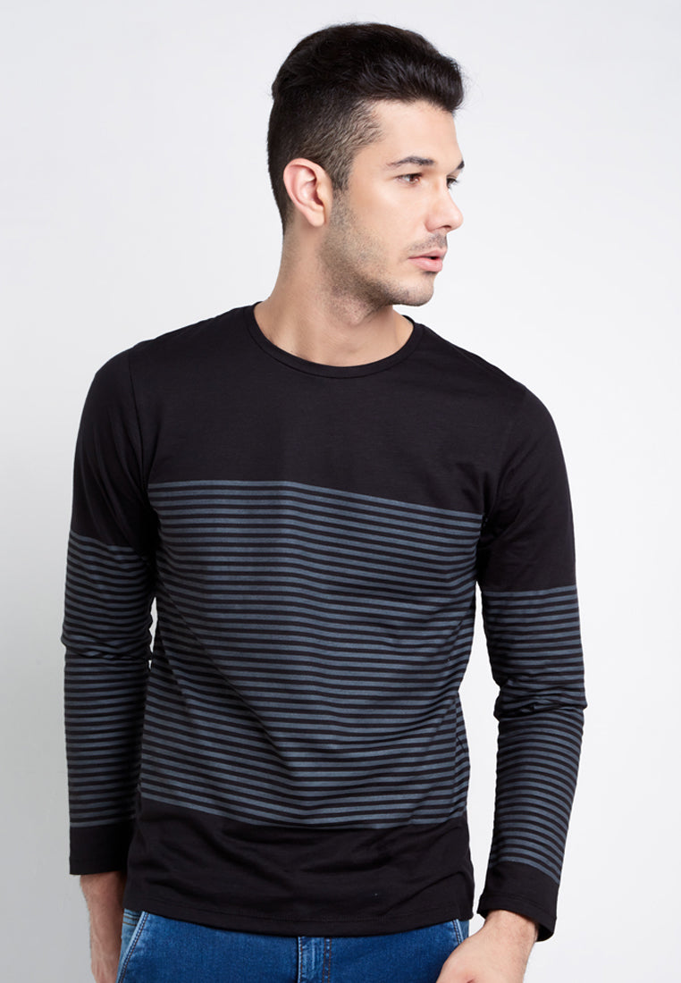 Tsh Men Striper Black