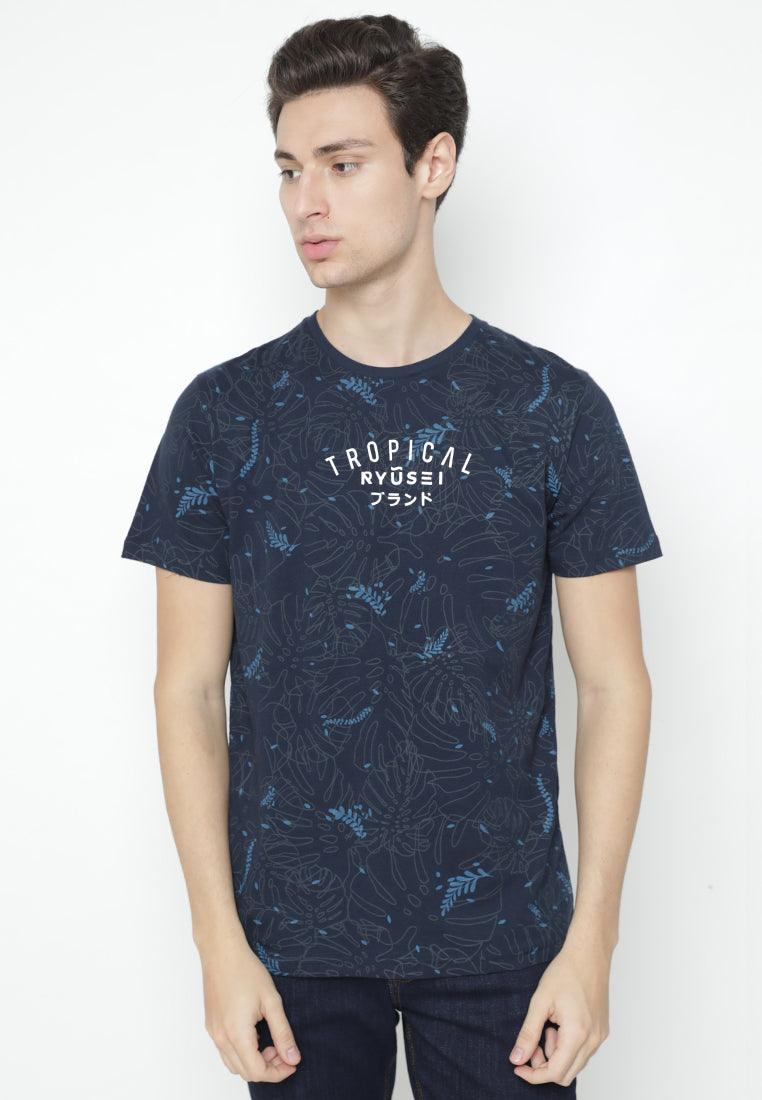Tsh Men Tropical FP Navy