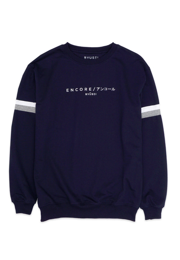 [ COUPLE EDITION ] Swt Encore Navy - SATU SET