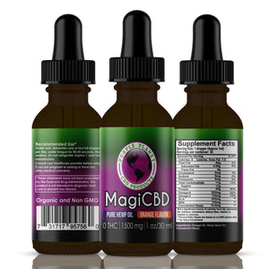MagiCBD Hemp Oil 1500 mg | 1oz./30 ml (Orange)