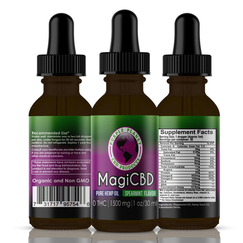 MagiCBD Hemp Oil 1500 mg | 1oz./30 ml (Spearmint)