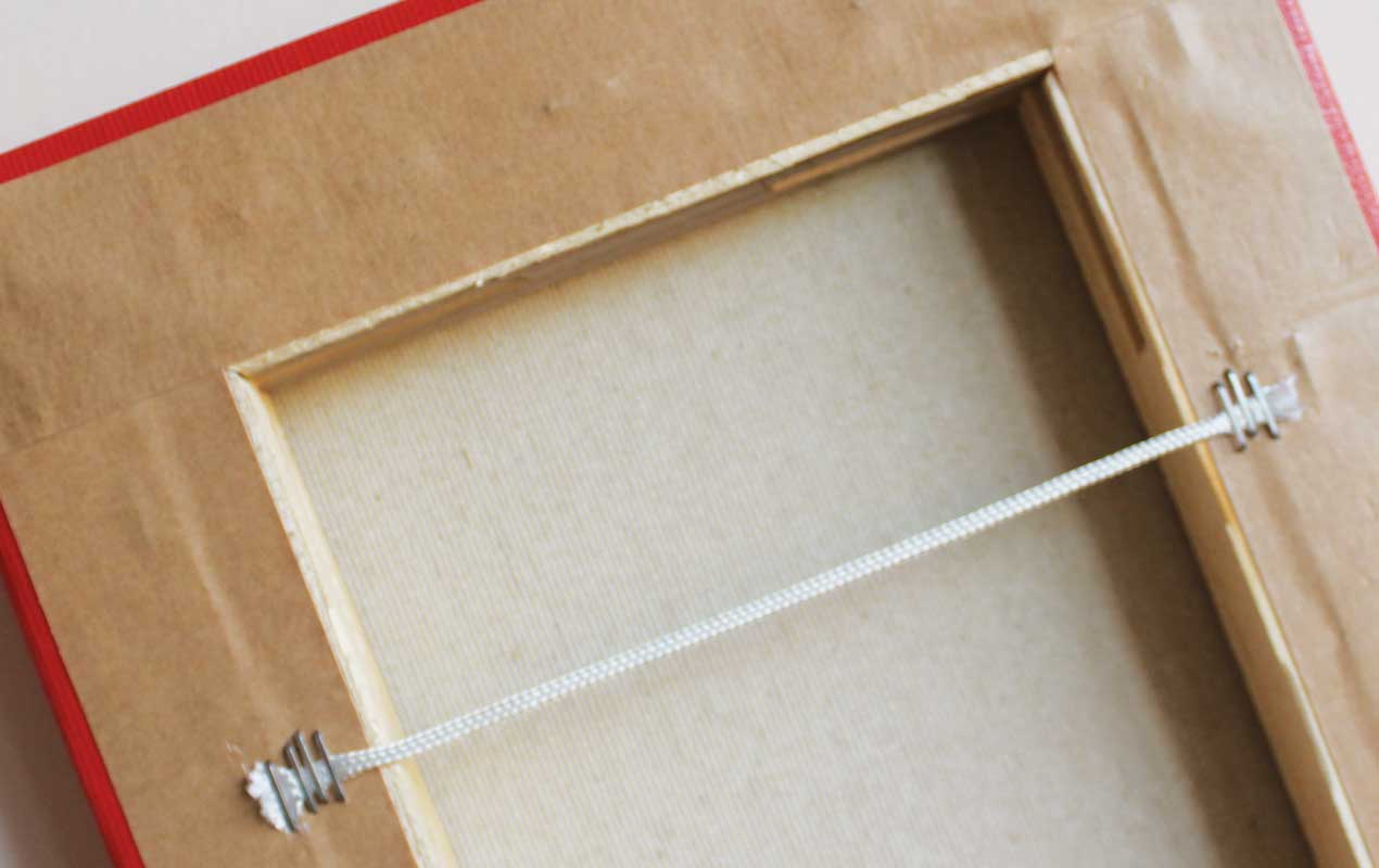 Canvases are backed with framing tape to protect your walls from scratches | photoWOW